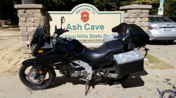 vstrom at ash cave