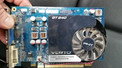 PNY GeForce GT240 video card