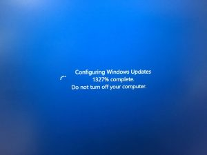 Windows Update 590% complete